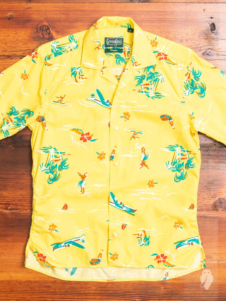 Surf & Turf Camp Shirt in Yellow