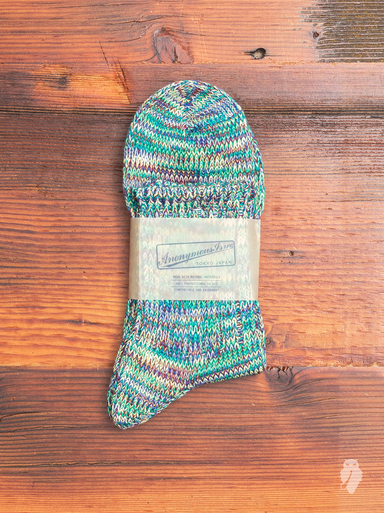 Melange Sock in Kiwi