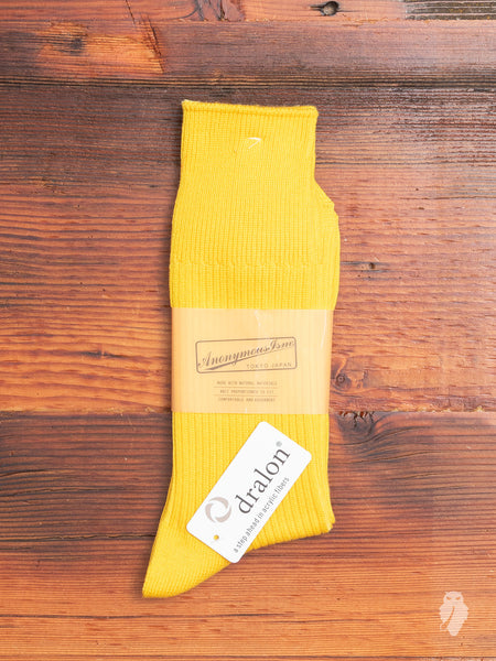 Brilliant Crew Sock in Yellow