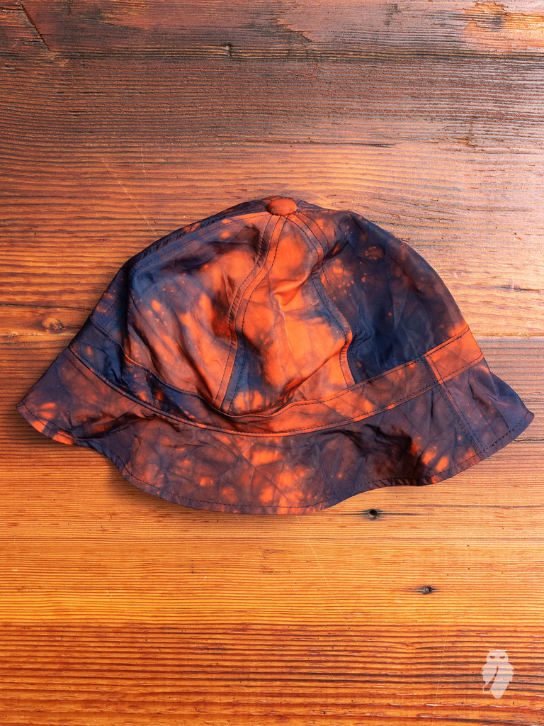 """Kagozome"" Metro Hat in Indigo/Orange"