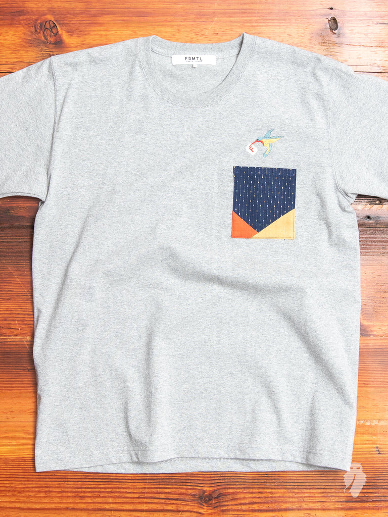 Origami Pocket T-Shirt in Grey