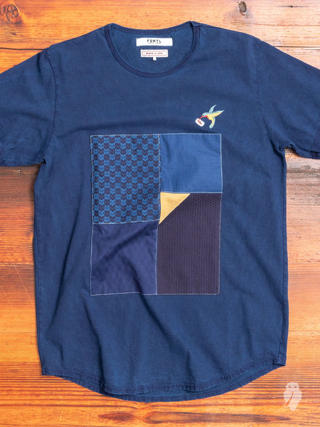 Patchwork T-Shirt in Indigo