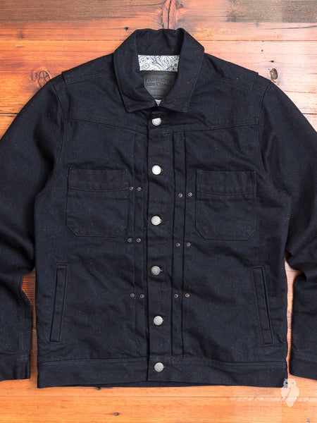 14.75oz Denim Riders Jacket in Rinsed Fleck