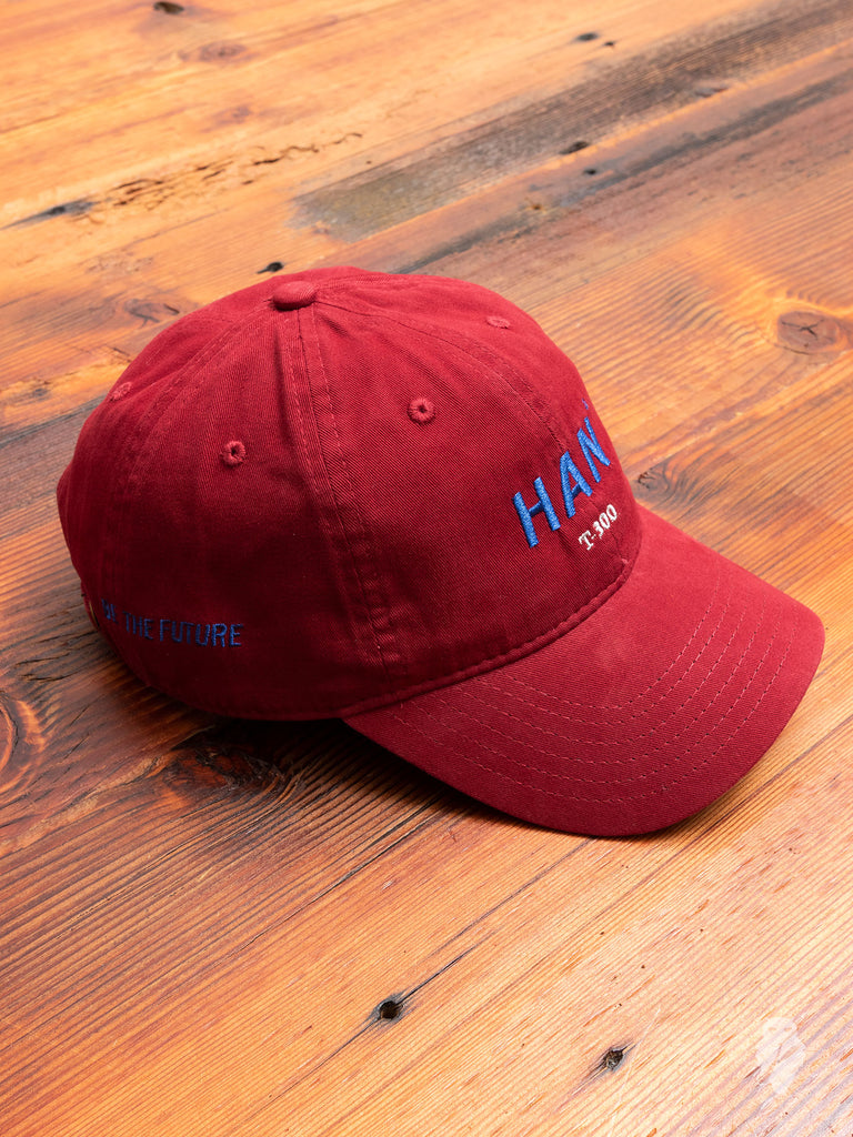 """Han"" Artwork Hat in Burgundy"