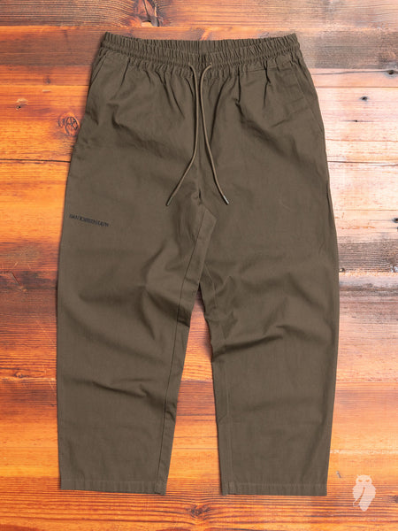 Cropped Pants in Olive Canvas