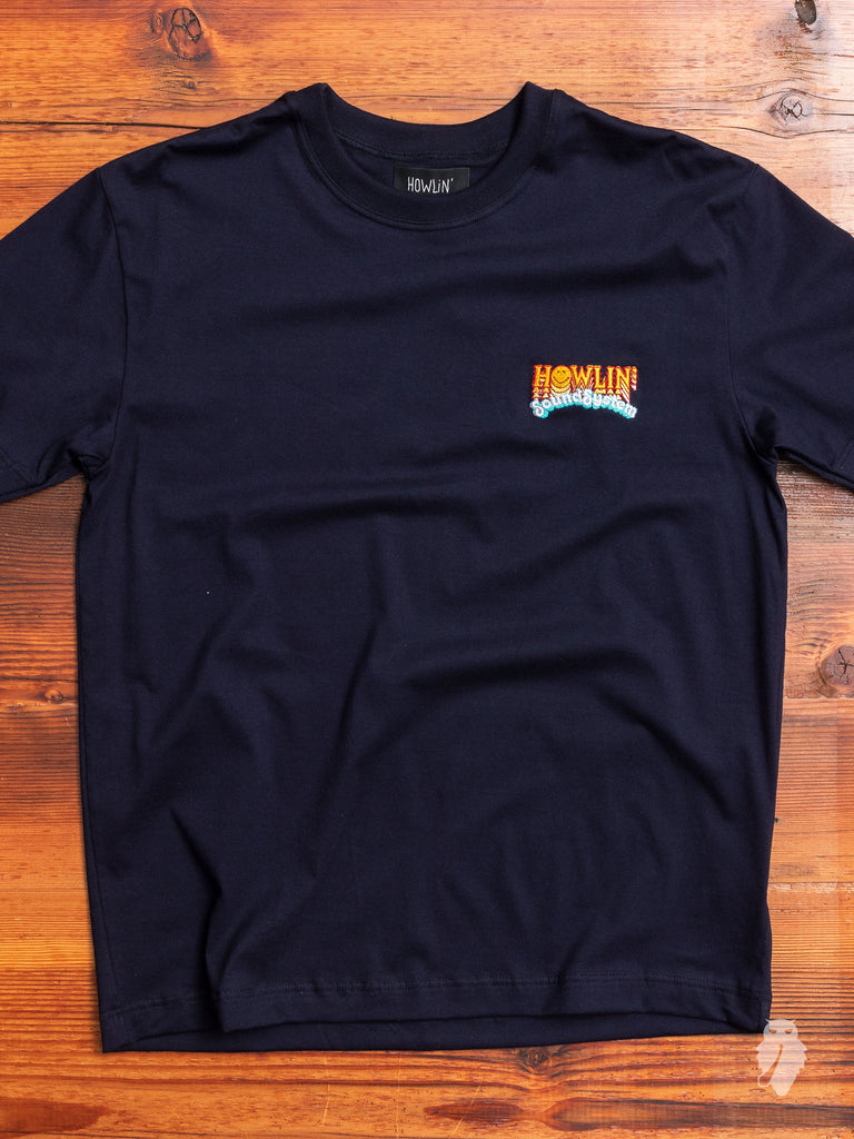 """Soundsystem"" T-Shirt in Navy"