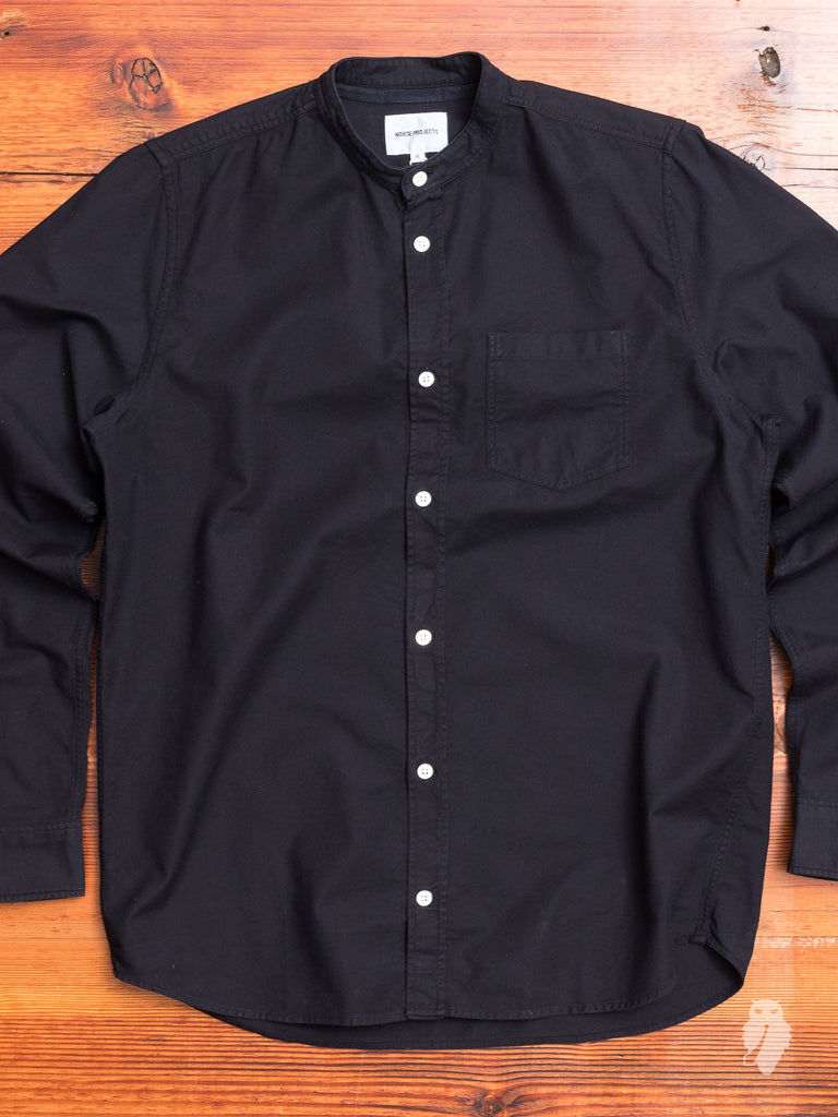 Hans Oxford Button Down Shirt in Navy