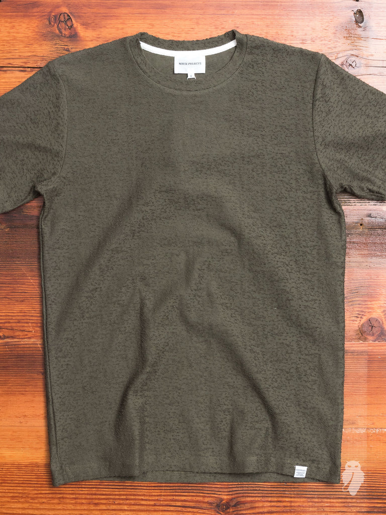 Niels Nep Texture T-Shirt in Ivy Green