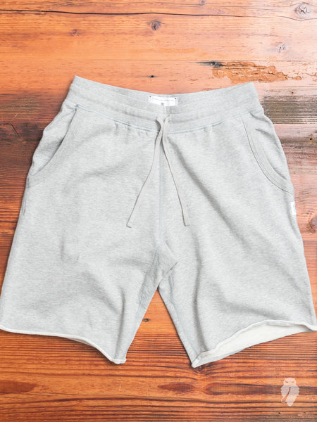 Cutoff Sweatshort in Heather Grey