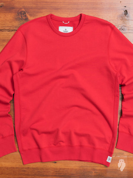 Lightweight Crewneck Sweater in Red