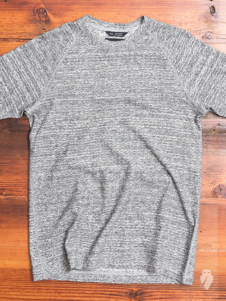 Loop Knit Raglan T-Shirt in Static Black