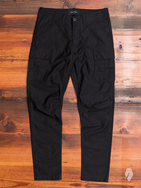 Utility Cotton BDU Pants in Black