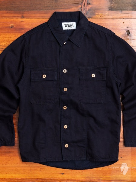 HBT Military Jacket in Indigo