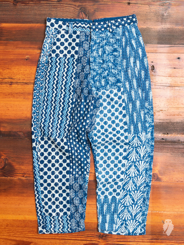 India Quilt Trousers in Indigo