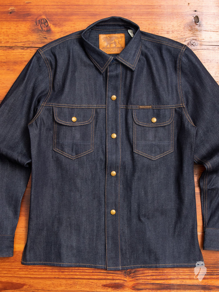Copeland 13oz Denim Shirt in Indigo