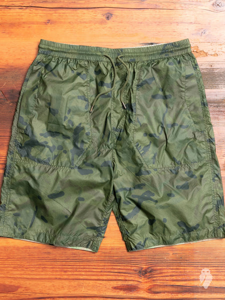 Camo Tech Shorts in Olive Coated DPM