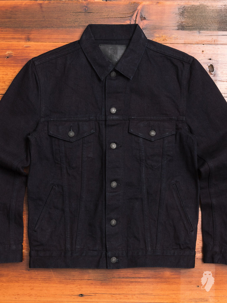 18oz Type-3 Denim Jacket in Indigo Black