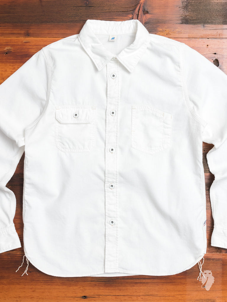 4.5oz Double Gauze Work Shirt in White