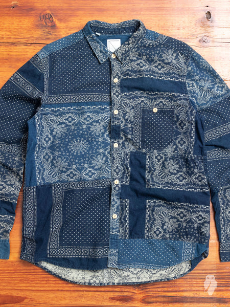 Bandana Ranru Button Down Shirt in Light Indigo