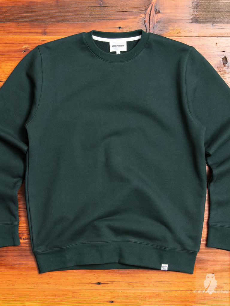 Vagn Crewneck Sweater in Bottle Green