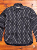 """Asanoha"" Button Up Shirt in Navy"