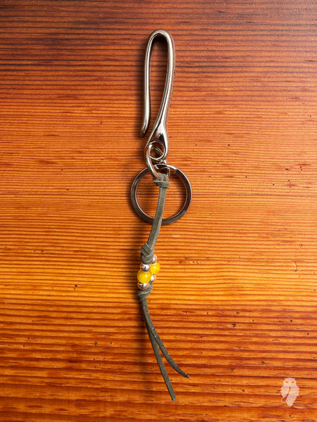 Long Tails Key Hook in Olive