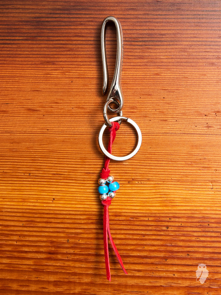 Long Tails Key Hook in Red