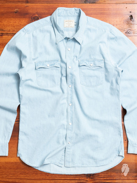 Lancaster Shirt in Bleached Chambray
