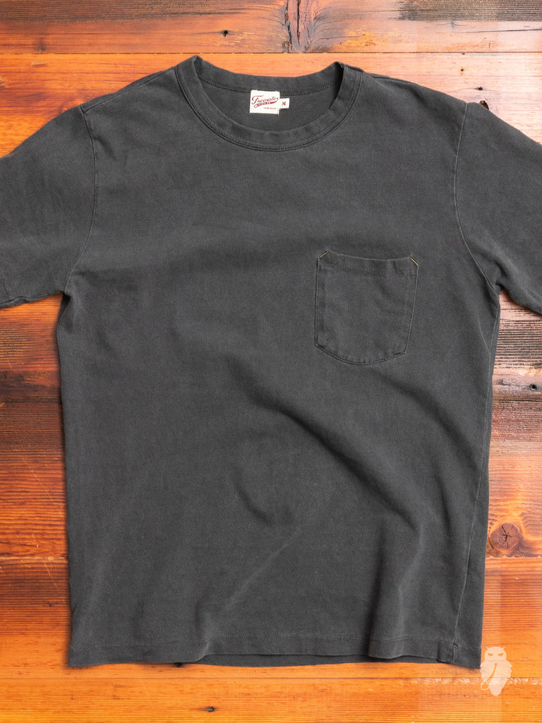 Vintage Wash Pocket T-Shirt in Black