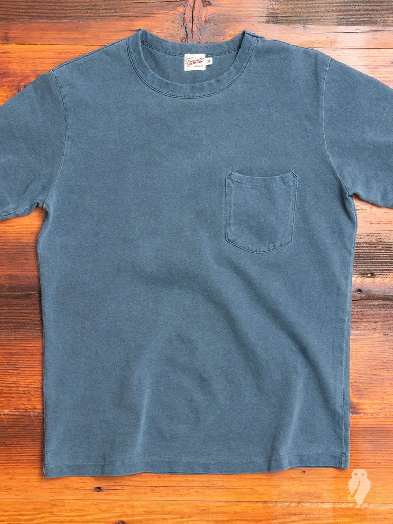Vintage Wash Pocket T-Shirt in Faded Blue
