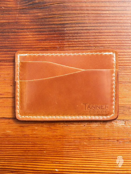Cordovan Journeyman Card Wallet in Natural