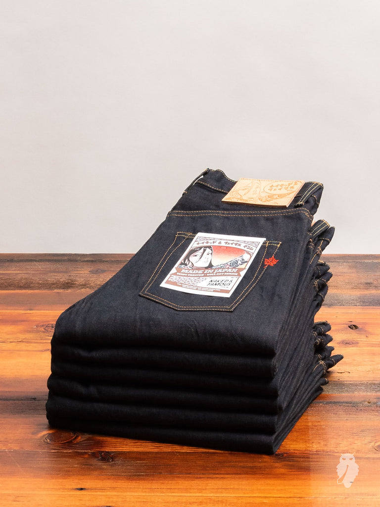 """Made in Japan 5"" 14.5oz Loomstate Tenpi Selvedge Denim - Easy Guy Fit"