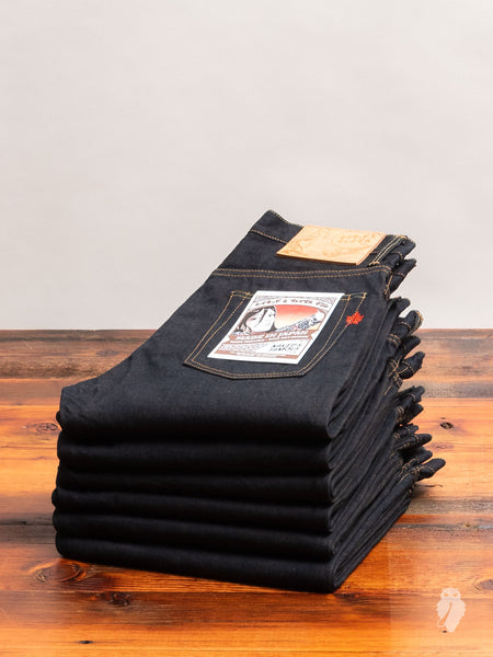 """Made in Japan 5"" 14.5oz Loomstate Tenpi Selvedge Denim - Weird Guy Fit"