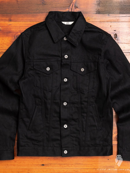 Lightweight Type-3 Denim Jacket in Double Black
