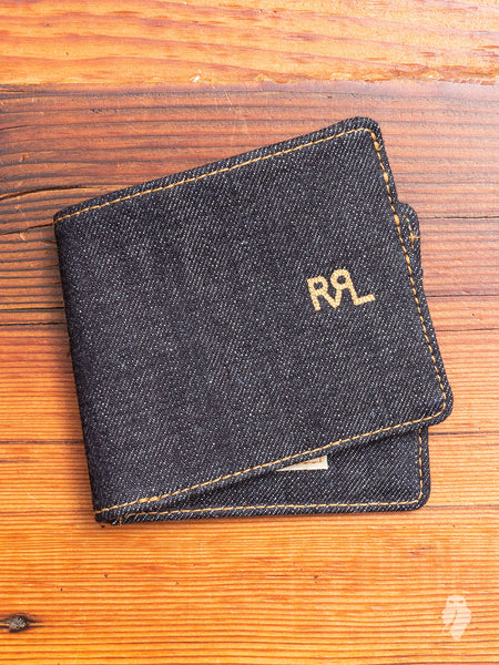 Selvedge Denim Bifold in Indigo