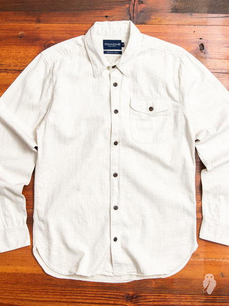 Utility Work Shirt in Cream