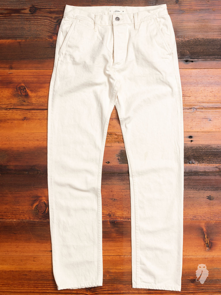 12oz Selvedge Chino in Natural Ecru