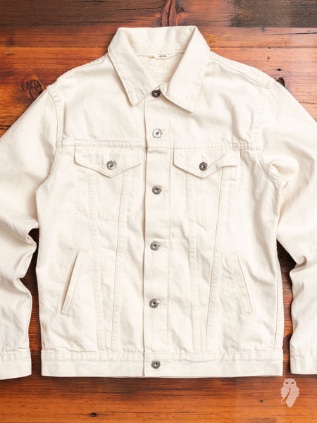 Lightweight Type-3 Denim Jacket in Natural Ecru