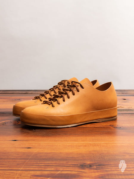 Hand Sewn Low-Top Sneaker in Natural