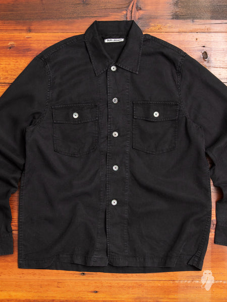 Chamois Shirt in Black