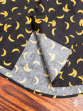 """Banana Print"" Button Down Shirt in Black"