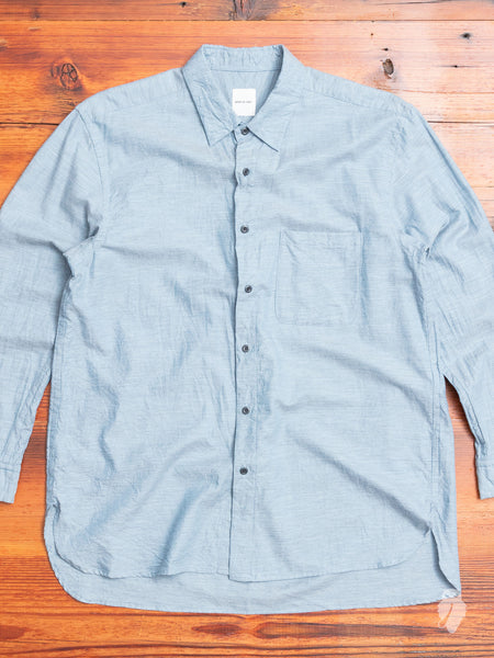 Regular Collar Longshirt in Sax