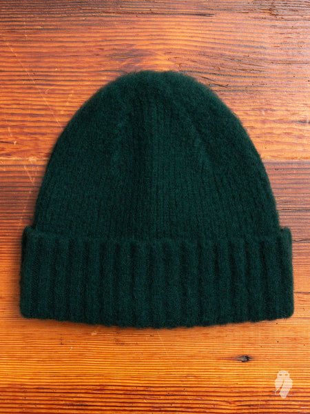 """King Jammy"" Wool Beanie in Forest"
