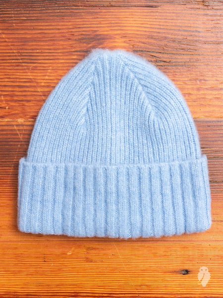 """King Jammy"" Wool Beanie in Ice"