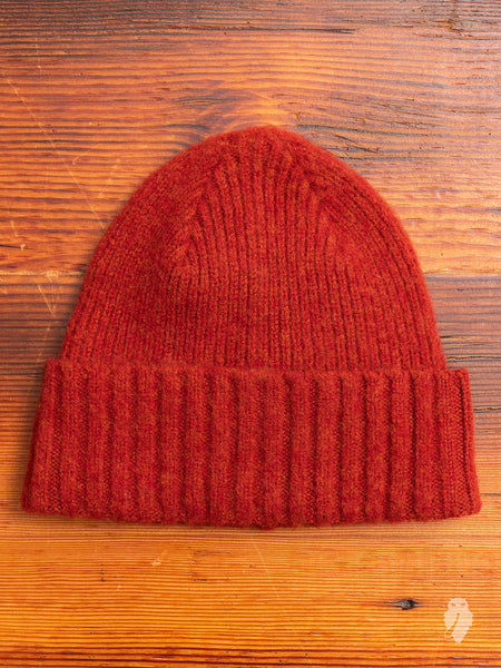 """King Jammy"" Wool Beanie in Rust"
