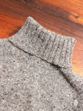 """Moonchild"" Wool Turtleneck Sweater in Grey"