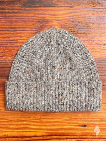"""Out of the Blue"" Wool Beanie in Grey"