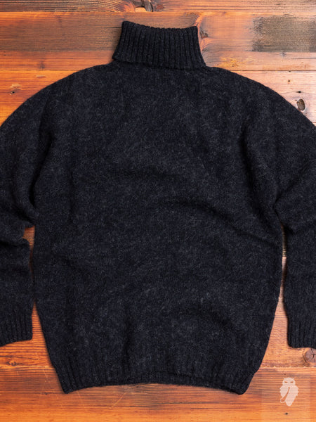 """Sylvester"" Wool Turtleneck Sweater in Charcoal"