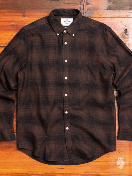Clerigo Button-Up Shirt in Brown