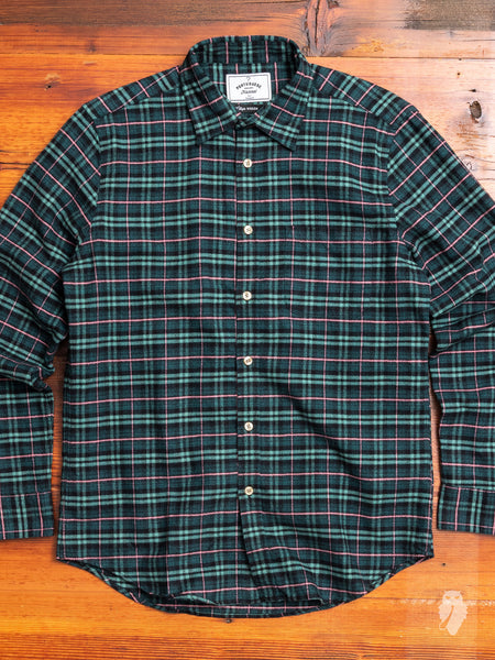 Future Check Button-Up Shirt in Green